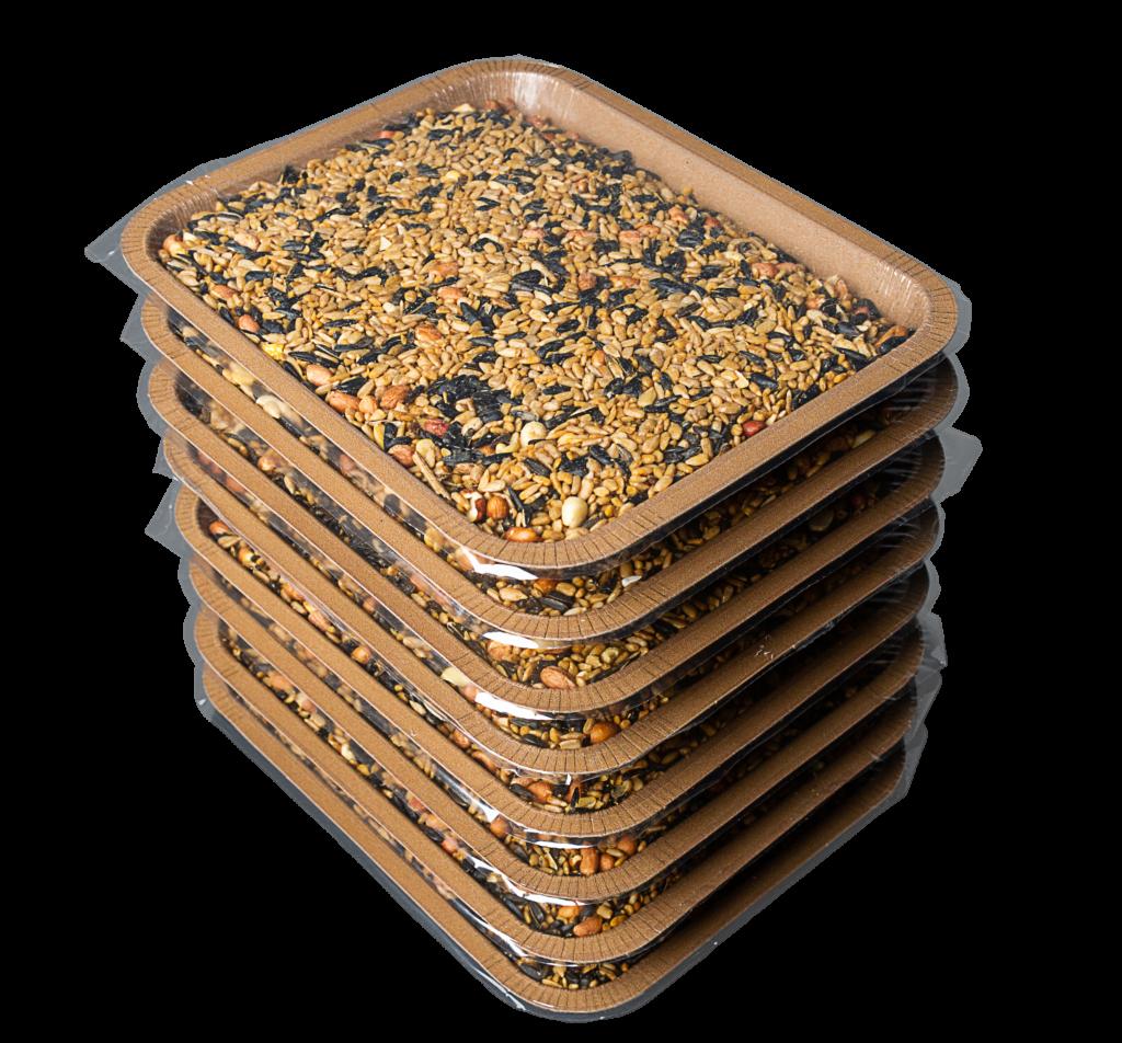 Scram, Squirrel! Hungry Birds Refill Bird Seed Trays, 8PK